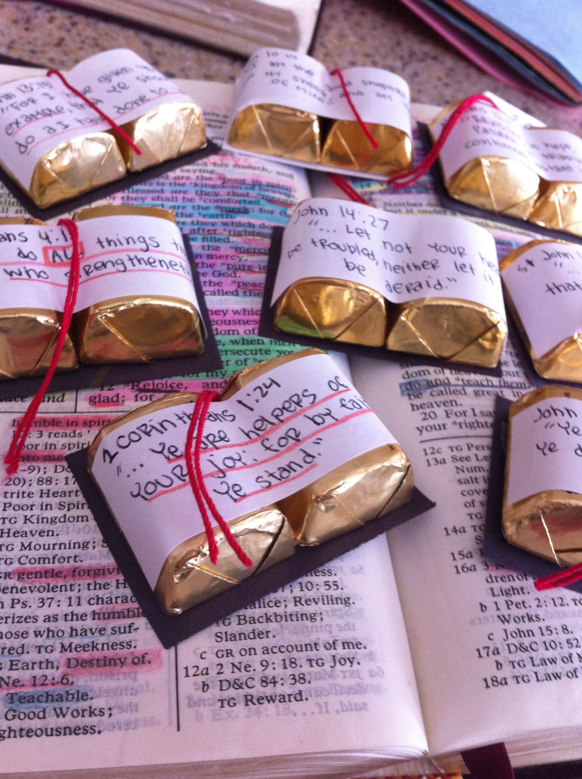 Missionary Package Idea. These are adorable! Little baby candy ...