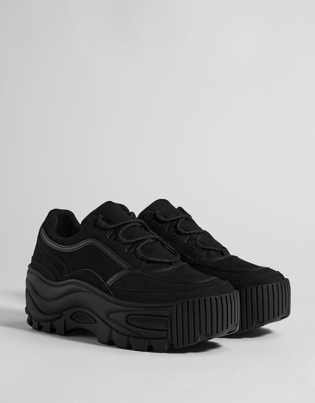 Monochrome platform sneakers. Discover