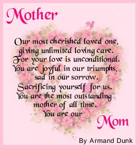 Mother Day Love Poems 6