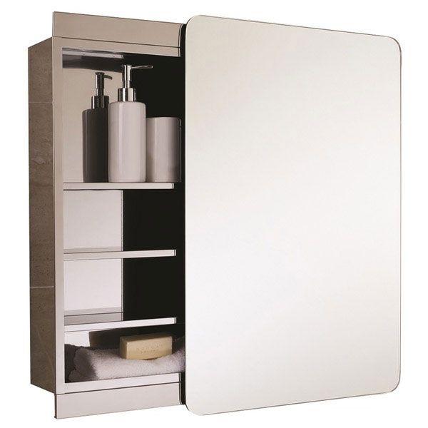 RAK Slide Single Cabinet With Sliding Mirrored Door 700 X