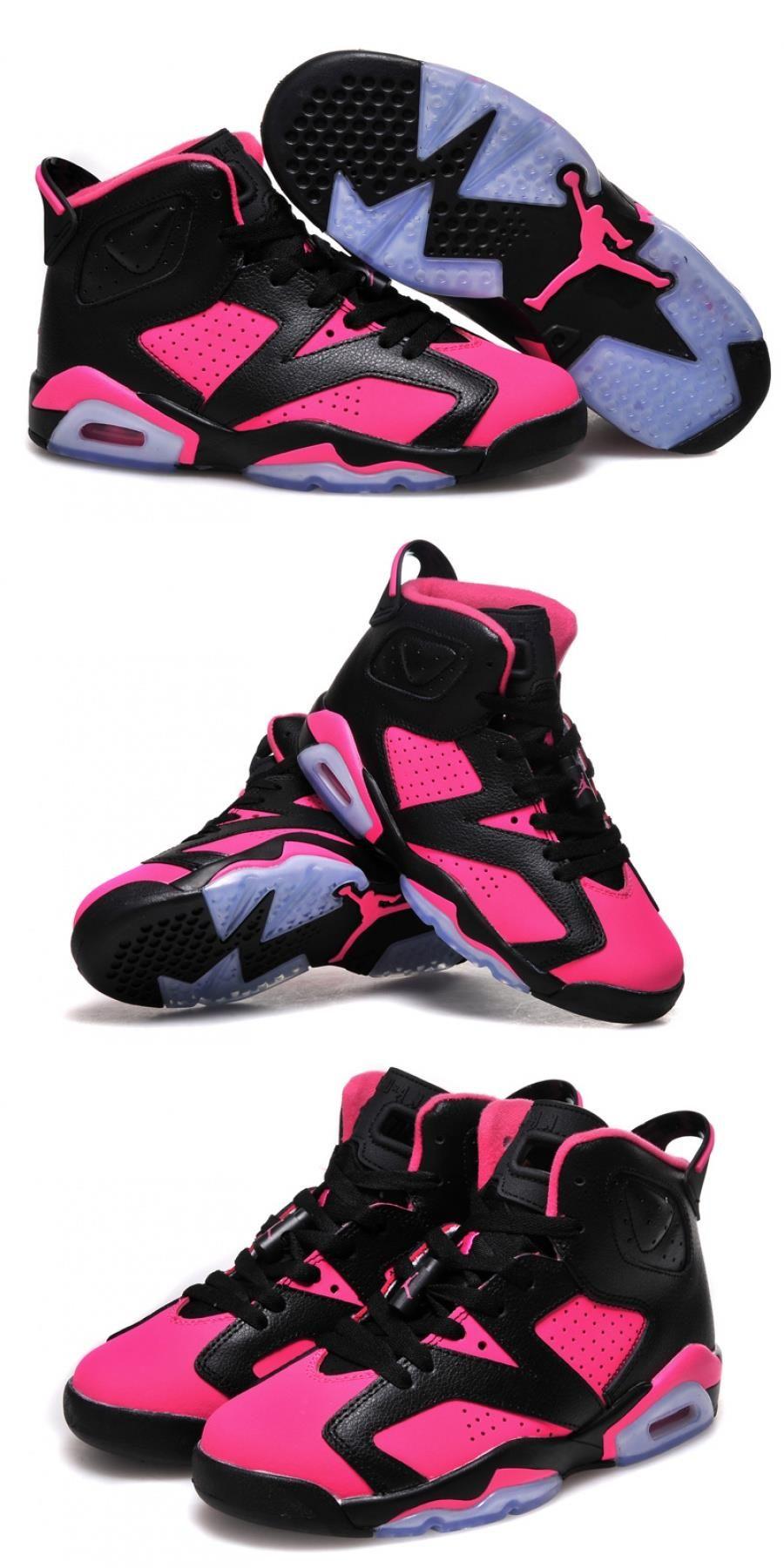 Air Jordan 6 Gs Black Pink Shoes For