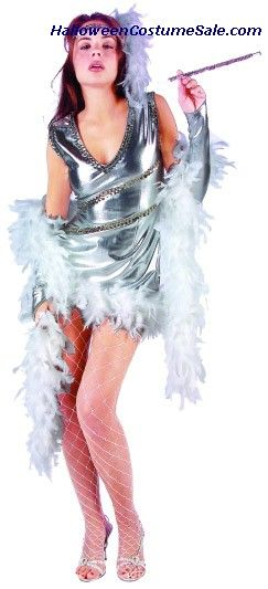 Dazzling 20u0027s costume includes stretch lame flapper with sequine trims boa trimmed on bottom  sc 1 st  Pinterest & Dazzling 20u0027s costume includes stretch lame flapper with sequine ...