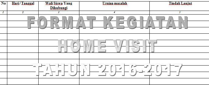 Contoh Format Rekapitulasi Kegiatan Home Visit Atau Kunjungan Rumah Tahun Ajaran 2016 2017 Dengan Micr Free Website Templates Microsoft Windows Microsoft Excel