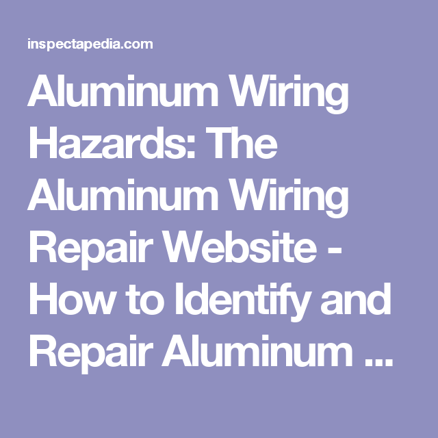 85+ How To Identify Aluminum Wiring - Replacement Of All Outlets And ...