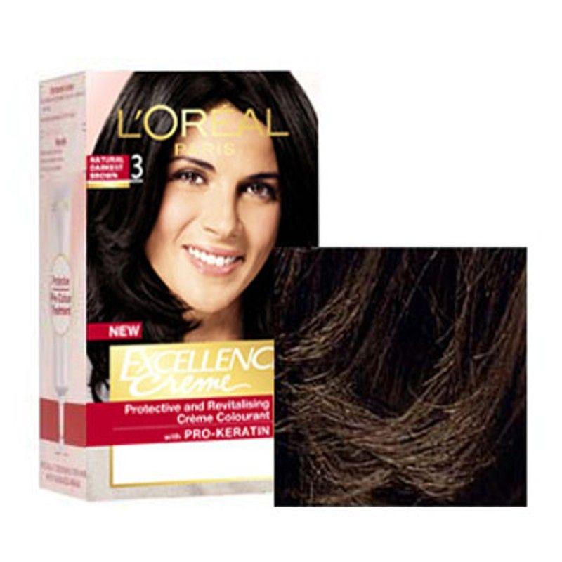 Loreal Paris Excellence Creme Hair Color 1 Black Triple Care Colour