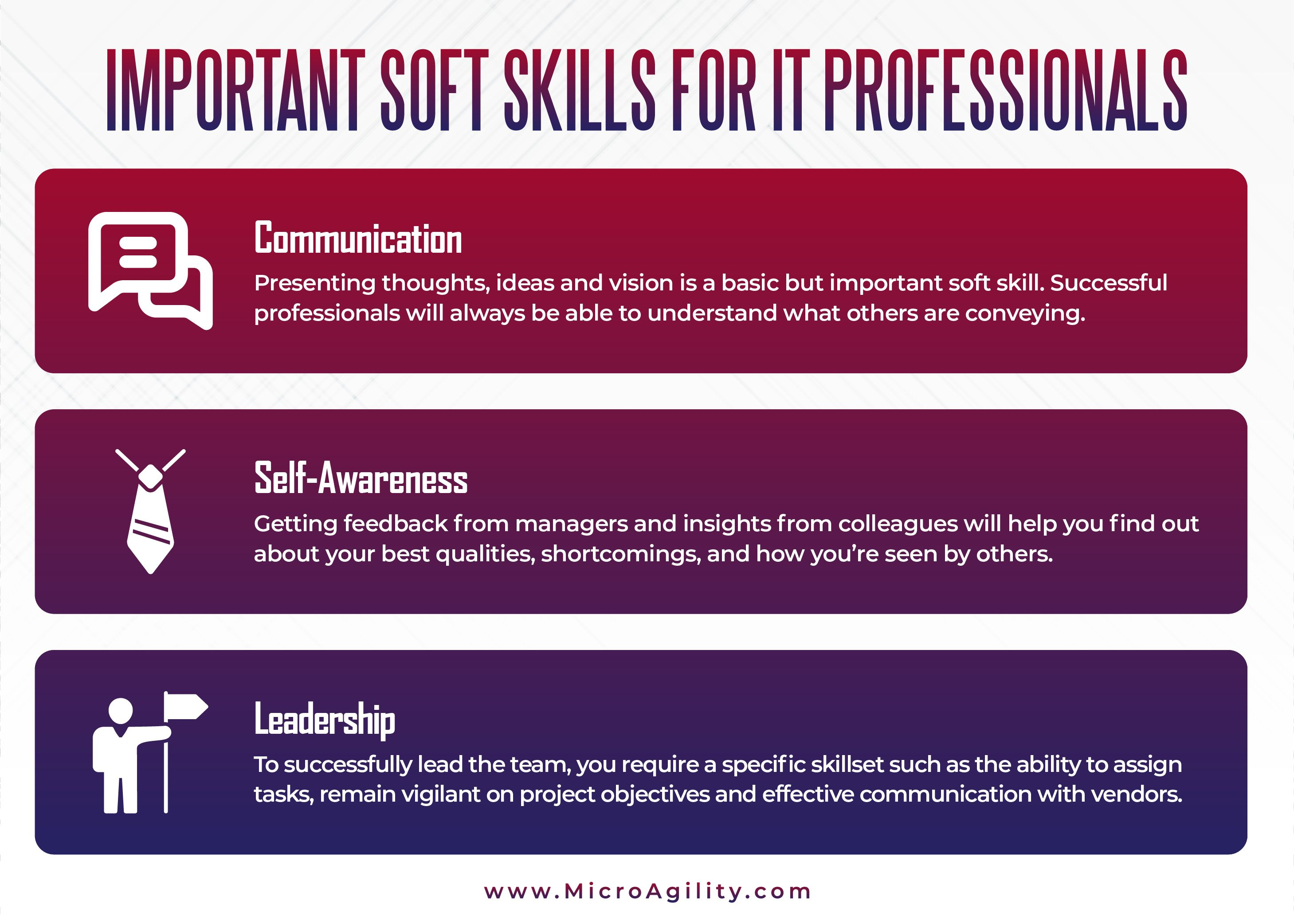 Important Skills For It Professionals Soft Skills Technology Consulting Skills