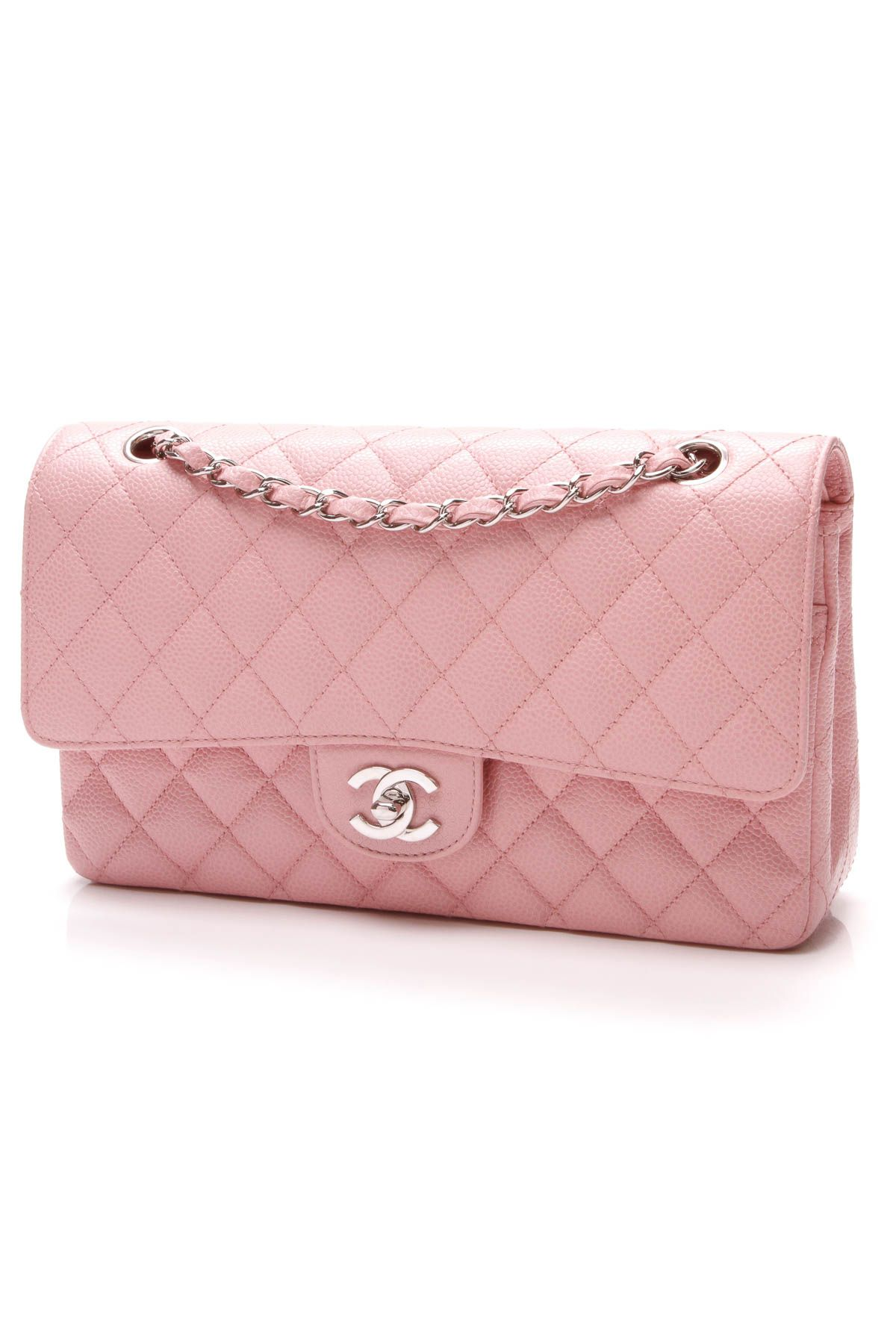 Double Flap Bag Medium Pink Caviar