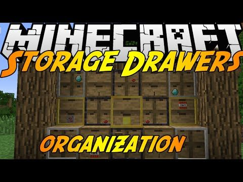 Storage Drawers Mod For Minecraft 1 8 1 7 10 With Storage Drawers Mod Players Have More Choices For Storing Objects As It Adds More Fu Storage Drawers Minecraft Mods Minecraft