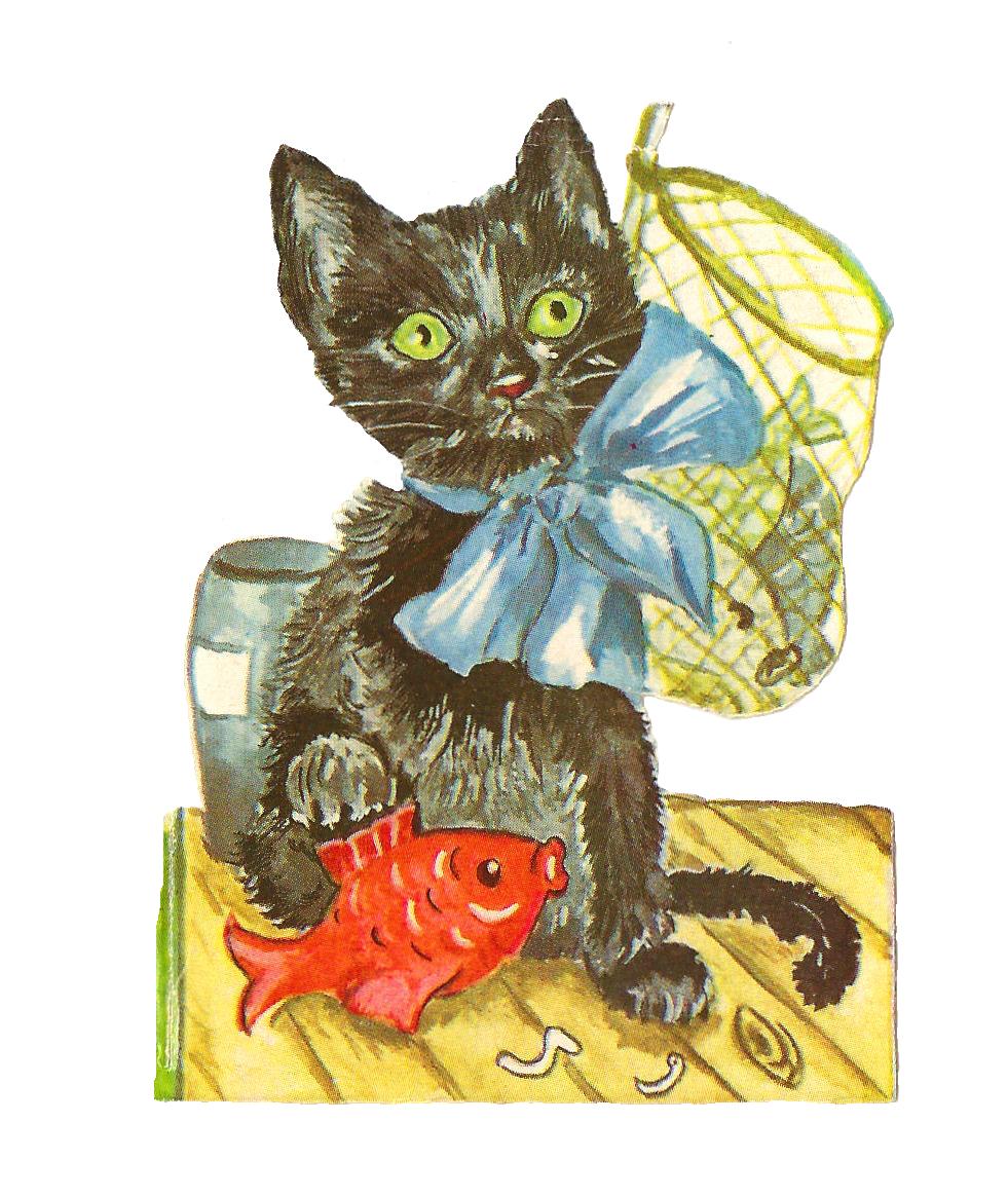 Antique Images Black cat art, Black art for sale, Cats