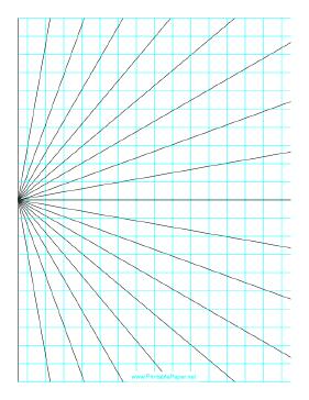Printable Perspective Grid 1 Point Left Portrait Graph Paper Art Mandala Printable Grid Paper