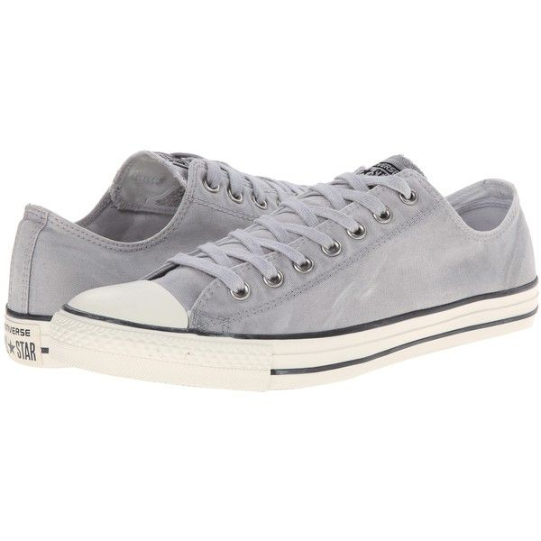 Converse Chuck Taylor All Star White Wash Ox Classic Shoes, Gray ($43) ❤