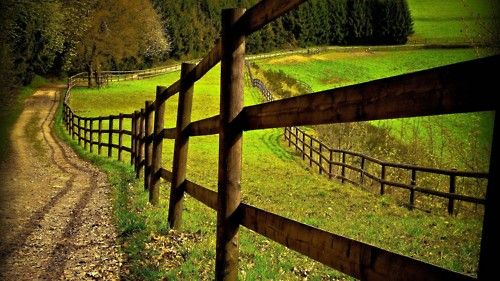 I want to live at the end of a dirt road lined with a western fence