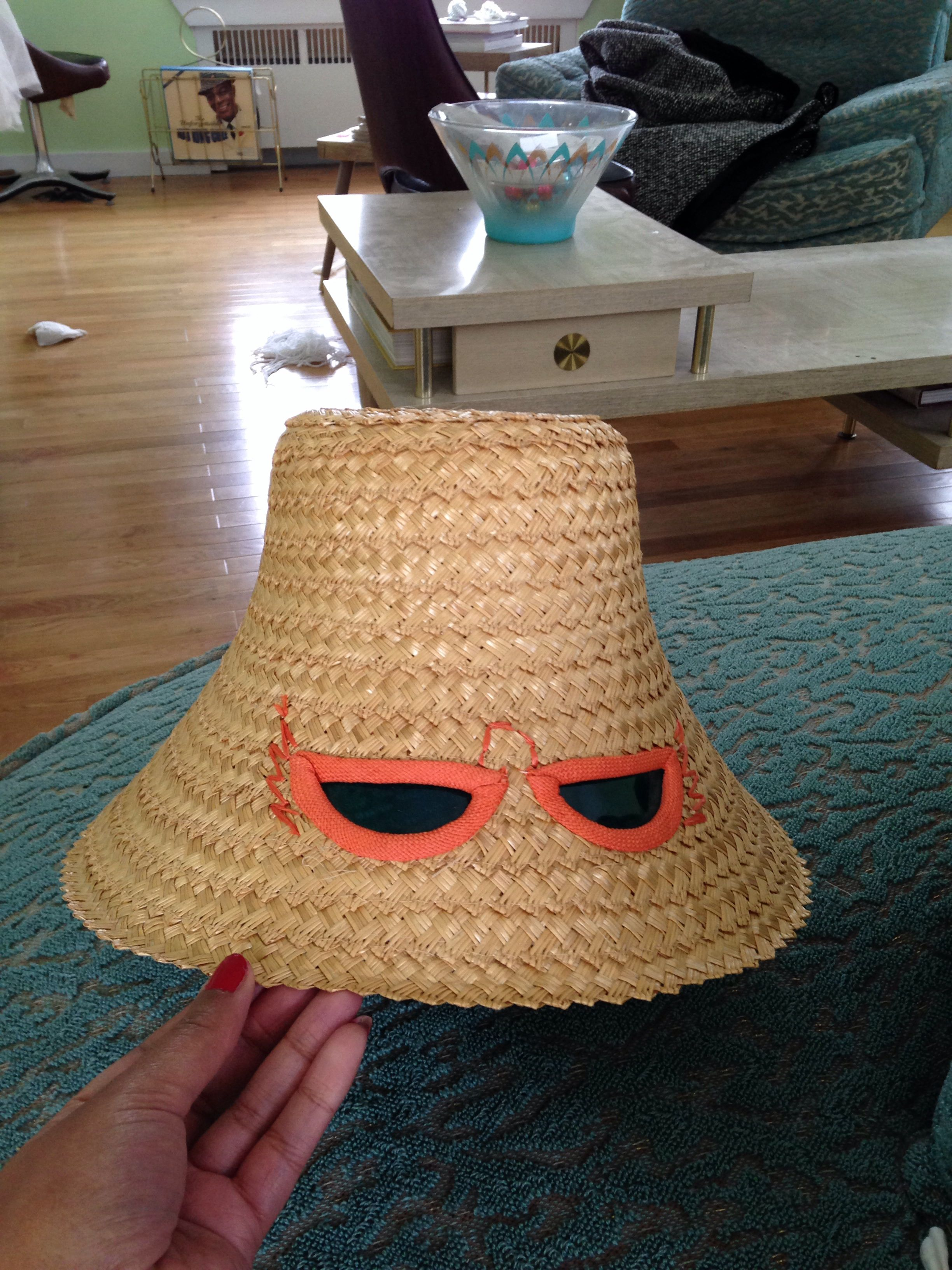 Vintage hat with built in sunglasses  | Do you remember? in
