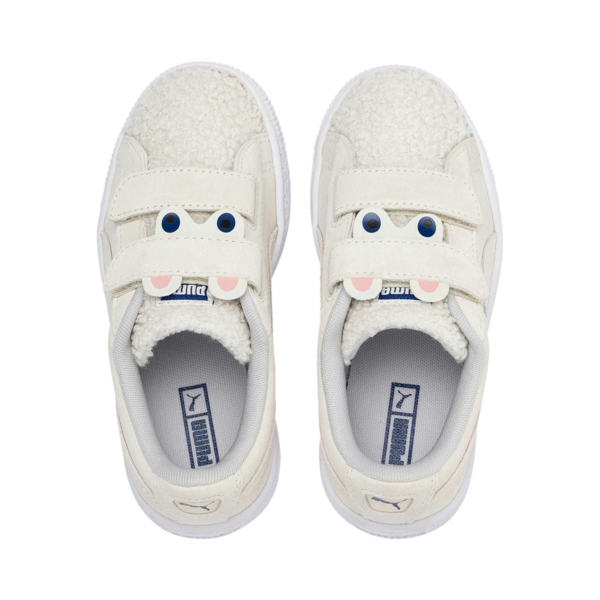 PUMA Suede Winter Monster Kids' Trainers in Whisper White