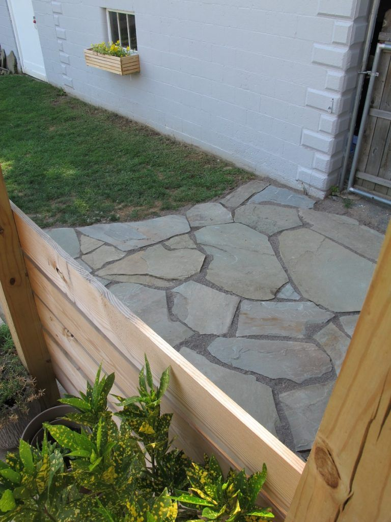 Building a patio in one day flagstone patio design