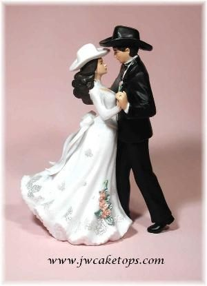 Western Wedding Caketops Figurines Cake Toppers