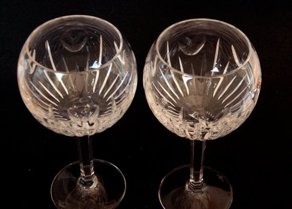 glass pair waterford crystal balloon wine - Waterford Crystal Wine Glasses