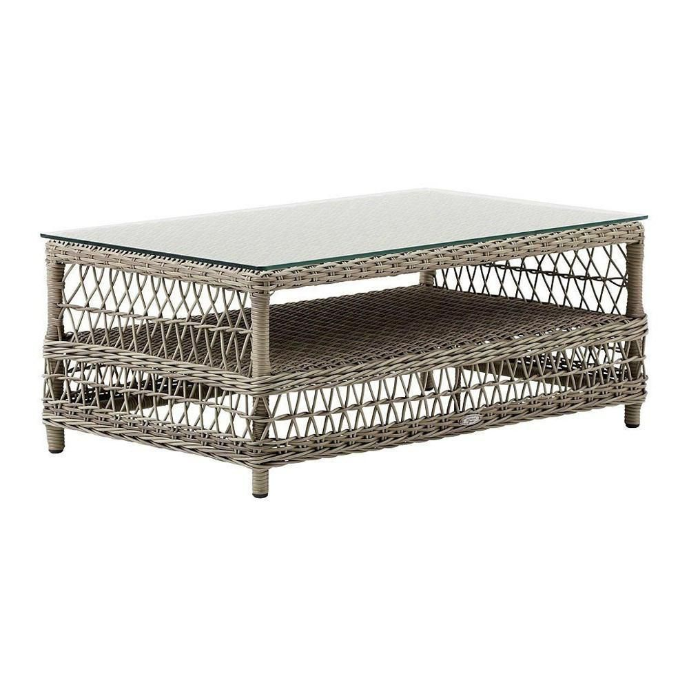 Sika Design Hazel Coffee Table Solid Wood Coffee Table Wicker Furniture Wicker Shelf