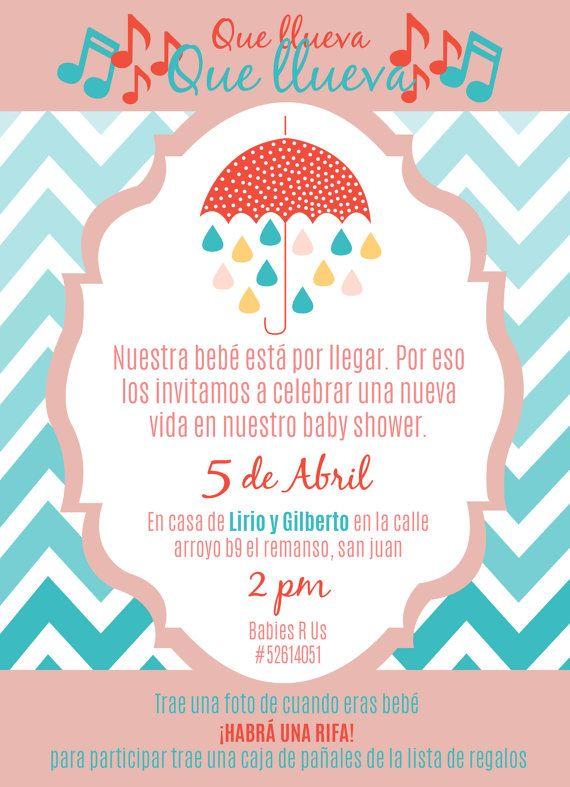 Baby Shower Invitations In Spanish : shower, invitations, spanish, Shower, Invite, Spanish, 5.25
