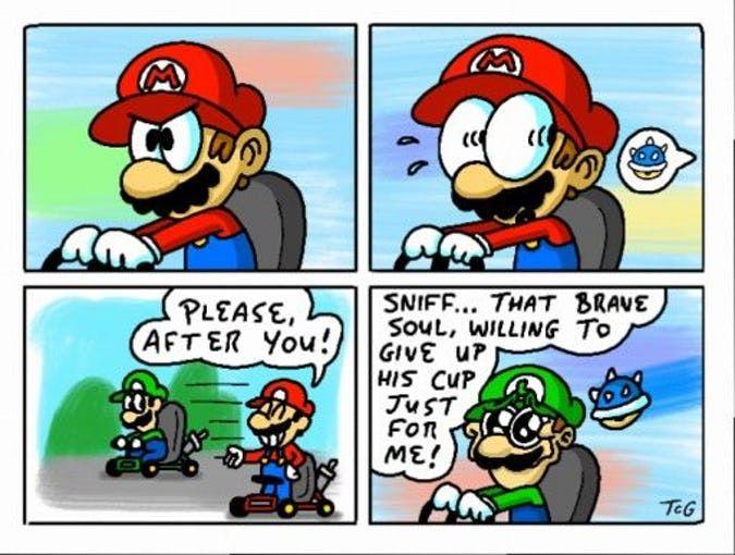Blue Shell Etiquette Mario Memes Mario Funny Mario Comics