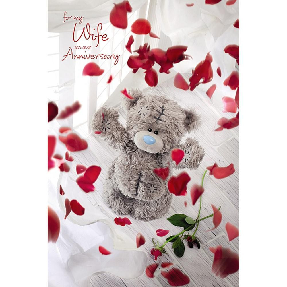 D Holographic Wife Anniversary Me To You Bear Card   Tatty