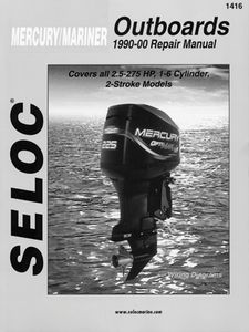 Mercury Mariner Outboards 2 5 275 Hp Seloc Marine Tune Up Manuals 230 1416 H P