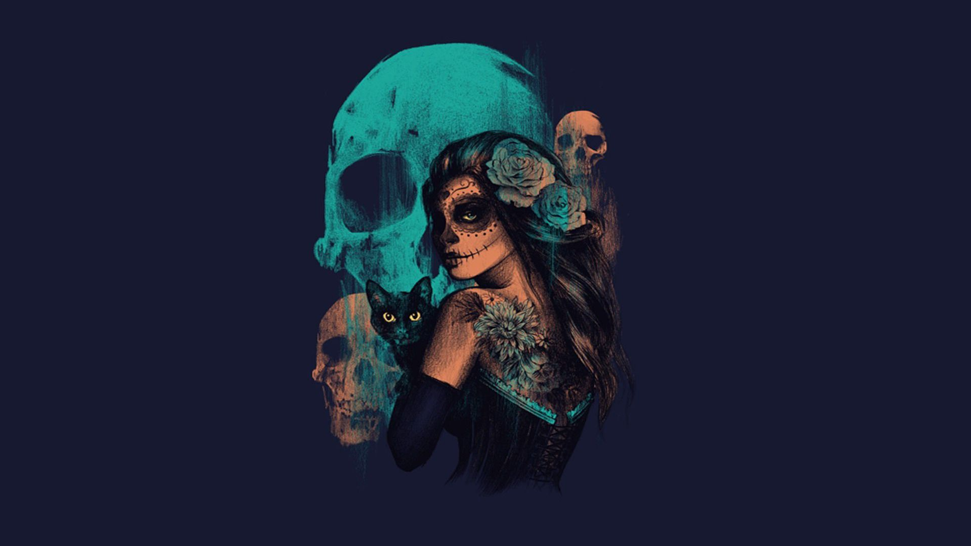 Day Of The Dead Wallpaper With Images Skull Wallpaper