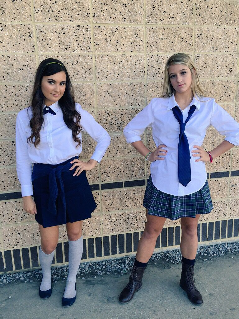 Blair And Serena Costume  Sexy Schoolgirl-6982