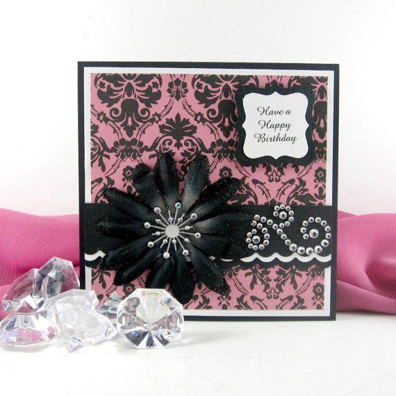 Elegant Happy Birthday card personalized by BellaCardCreations ...