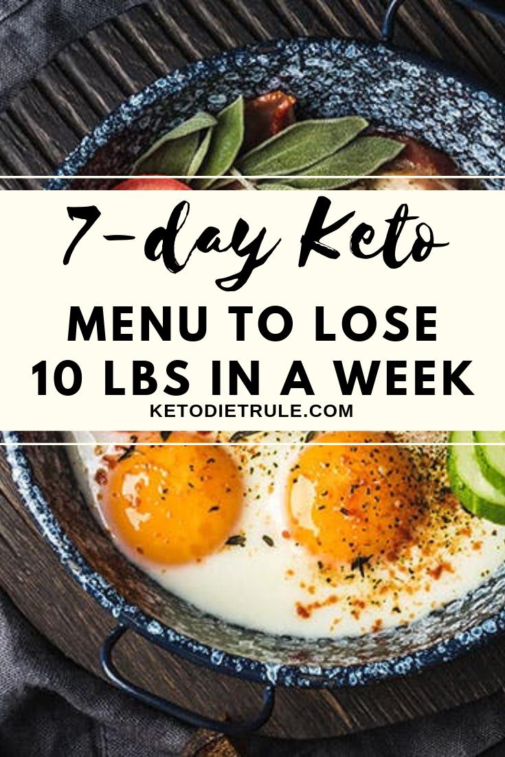 7-Day Keto Diet Plan for Beginners to Lose 10 LBS – Keto Diet Rule