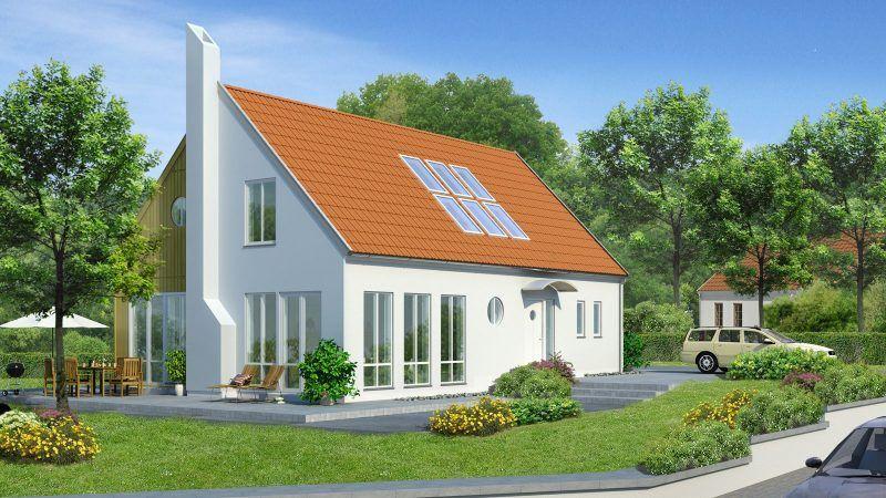 Bausatzhaus Was Ist Das Tipps Vorteile Und 21 Ideen Hausbau Ownerbuilder Architektur Satteldac Scandinavian Home Self Build Houses Ranch House Exterior