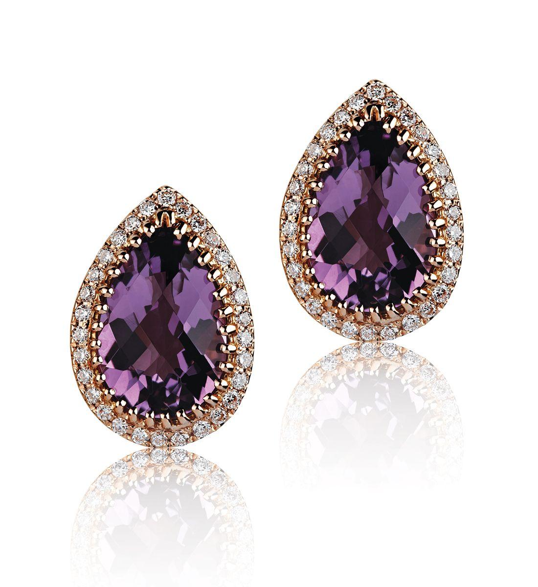 Amethyst Ring Liali Dubai Jewelry Amethyst Gemstone Rings