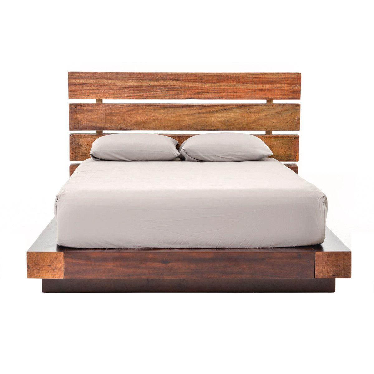 Wood Beam Platform Bed   Bedroom   Pinterest   Vigas, Camas de ...