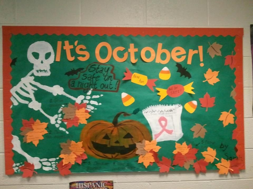 Halloween Bulletin Board! RA Ideas! Tips on staying safe during a