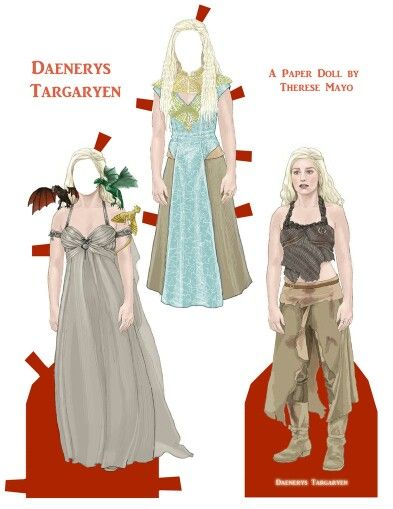 The Dragon Mother Game of Thrones Paper Dolls http://www.pinterest.com/ejswaim/paper-dolls/