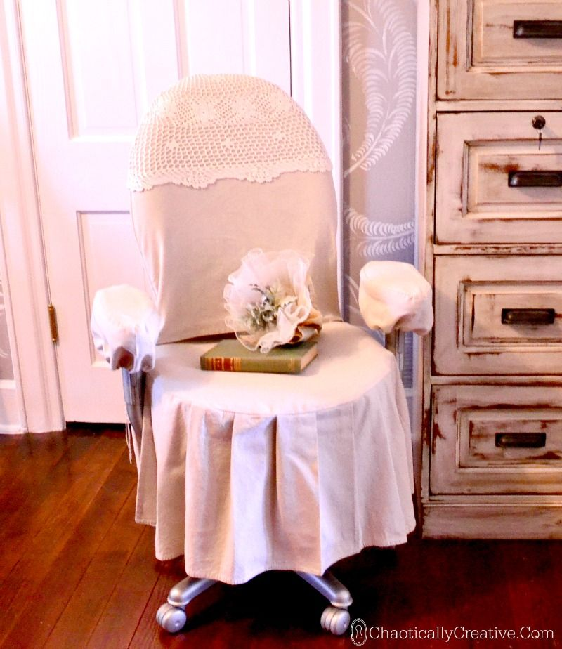 Lovely Office Chair Make Over With A Drop Cloth