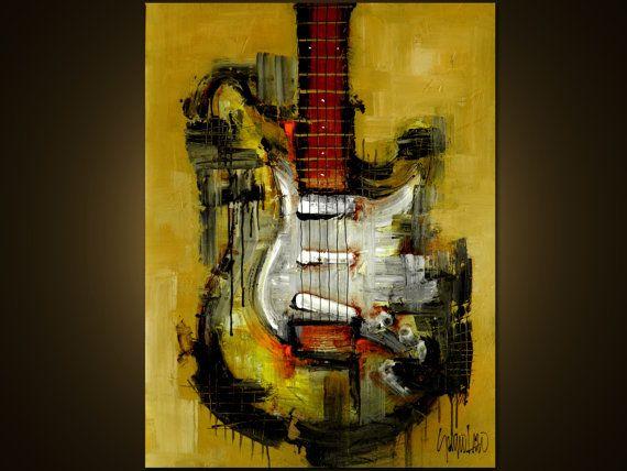 Peinture originale - Art abstrait moderne par SLAZO - 30 x 40 - sur mesure