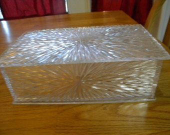 Celebrity lucite jewelry box 1950s vintage LUCITE COLLECTION