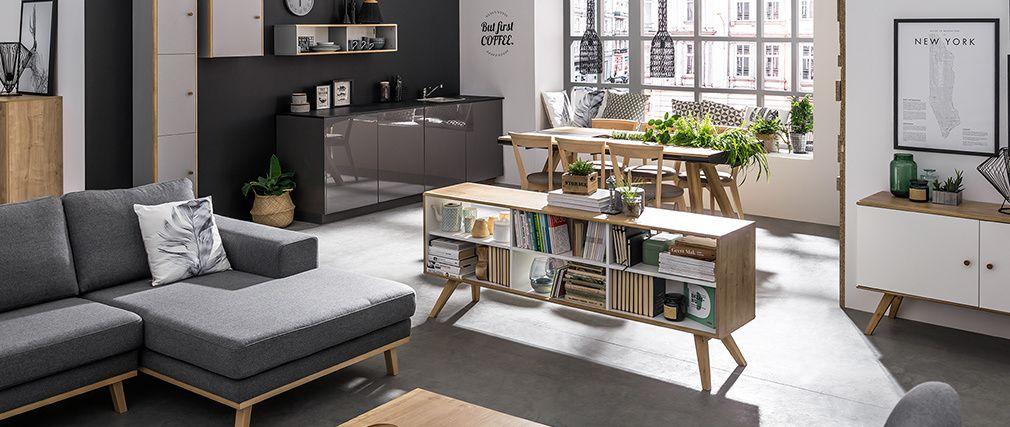 Buffet Scandinave Potter Chene Et Blanc Pas Cher Buffet Miliboo En 2020 Mobilier De Salon Miliboo Buffet Style Industriel