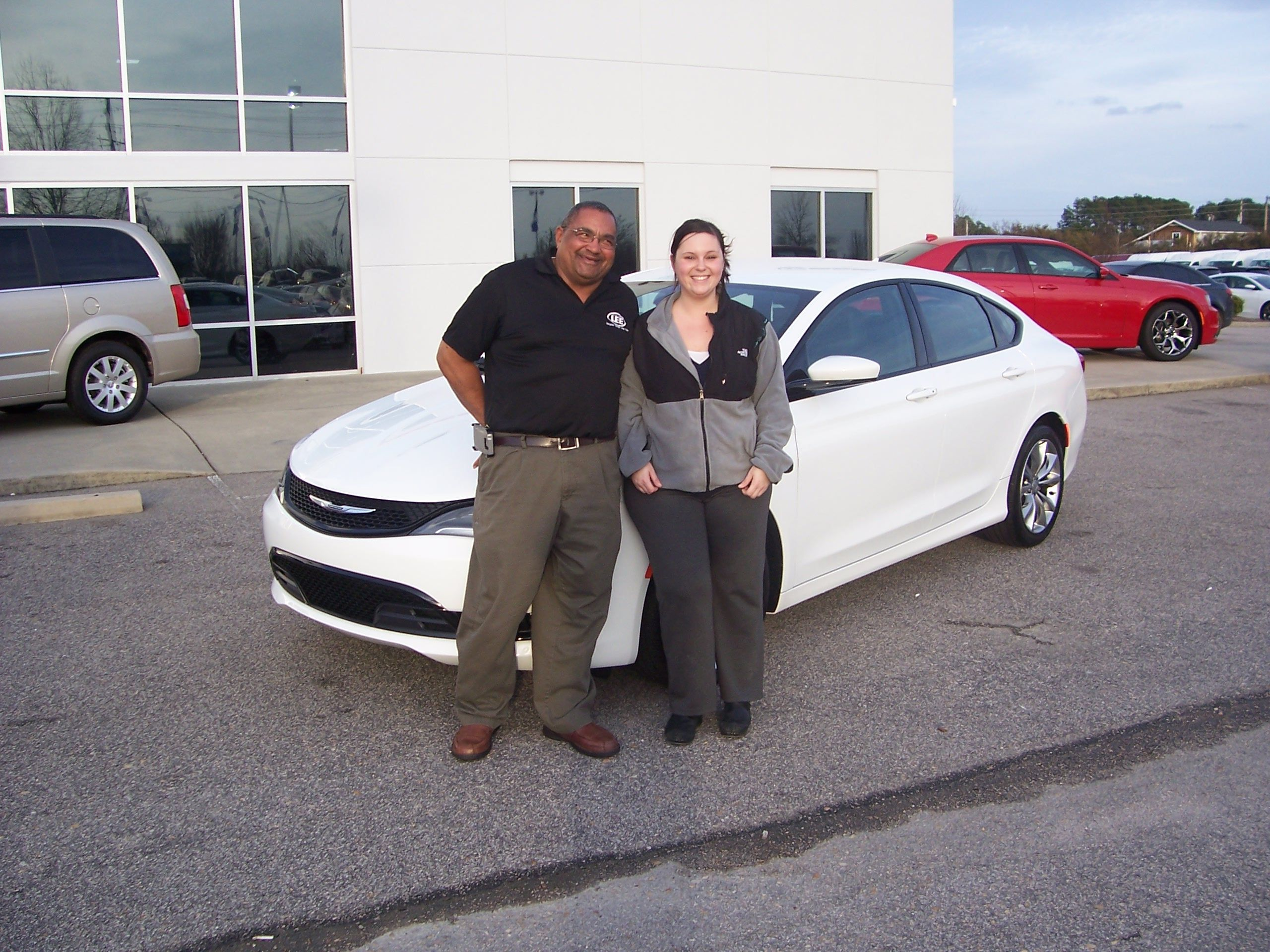 Shannon from Kenly NC used the Lee CDJR Facebook page to watch for special deals and this brand new 2015 Chrysler 200 popped up. Guess what she is driving now. Thank you Shannon for your business. Her salesman is Tony Oxendine.