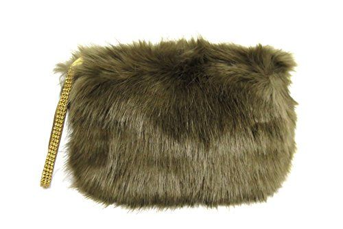 Madison Kate Trendy Women s Faux Fur Fluffy Feather Round Clutch Shoulder  Bag (Brown) dcc4eb4c93798