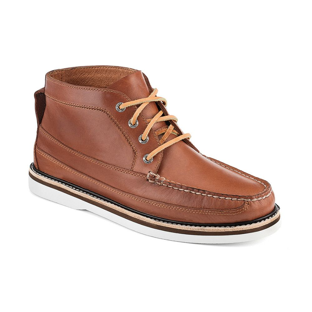 Sperry Top-Sider Men's A/O Tan Leather Double Sole Chukka boot US ...