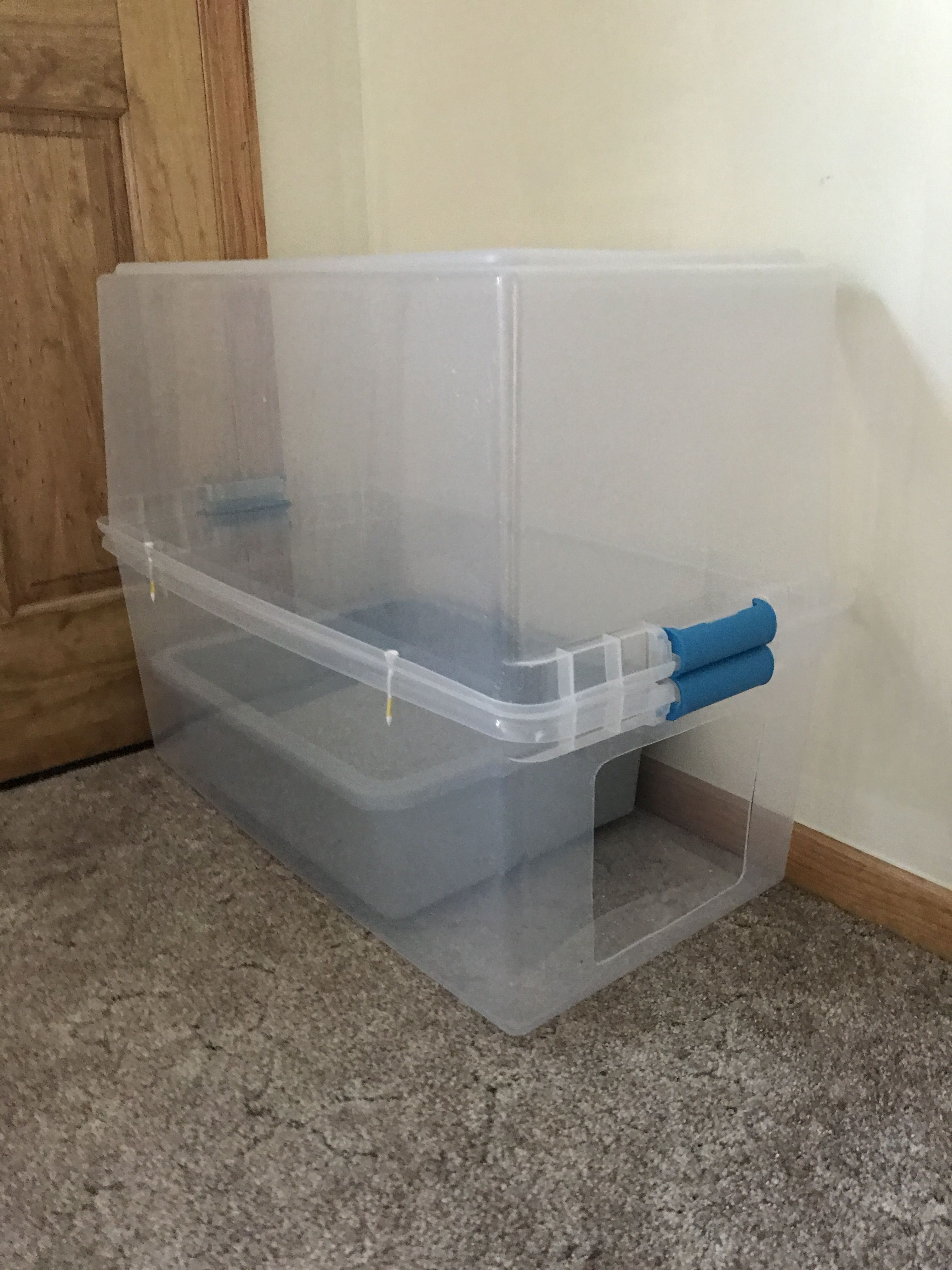 Diy cat liter box helps prevent the dust and smell from