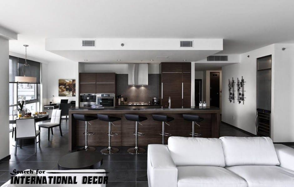 150 Beautiful Designer Kitchens For Every Style  Open Concept Adorable Modern Living Room And Kitchen Design Decorating Design
