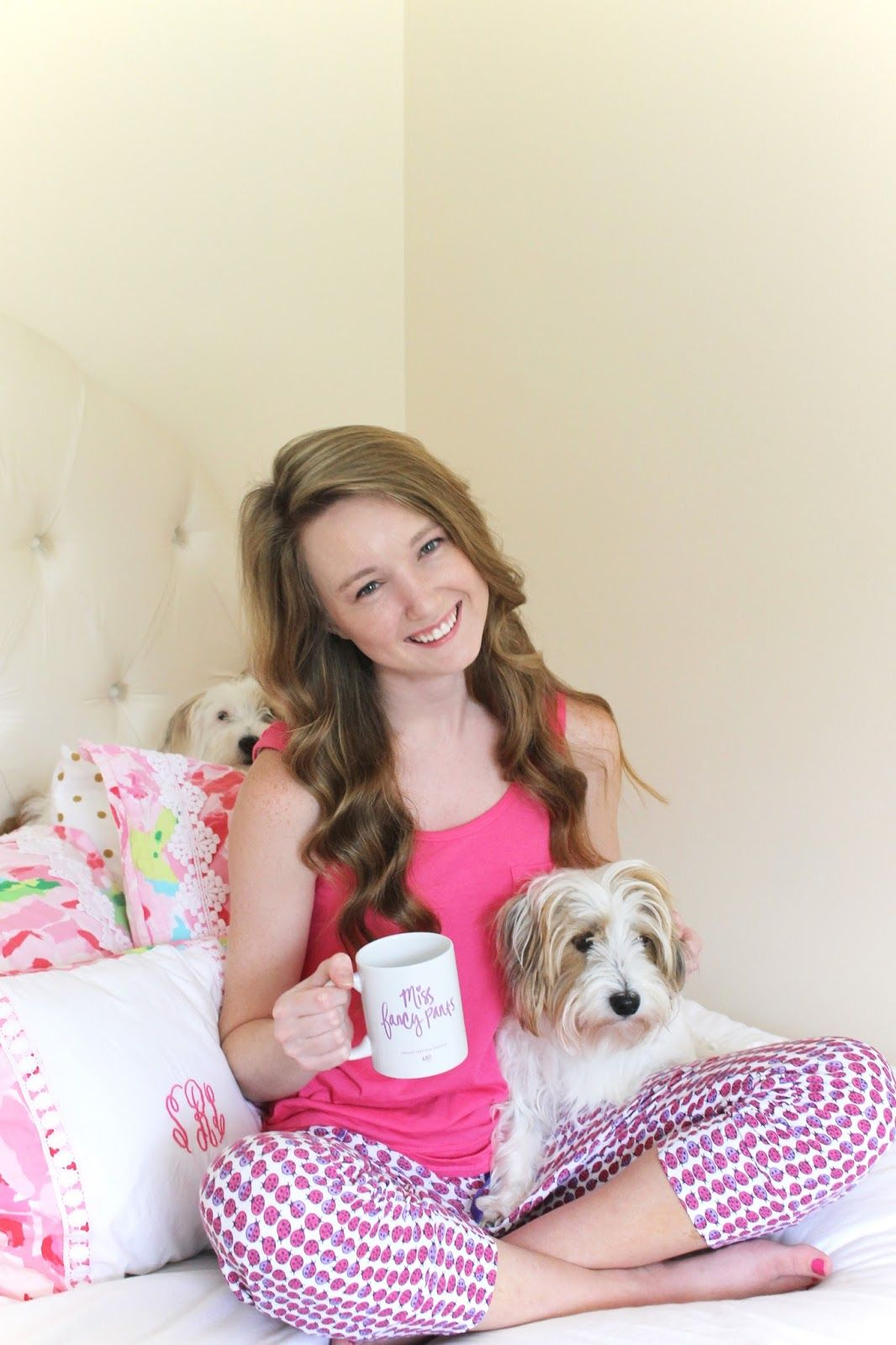 Puppies and coffee...all I need in life. http://www.luckydayblog.com/2015/06/lazy-day.html