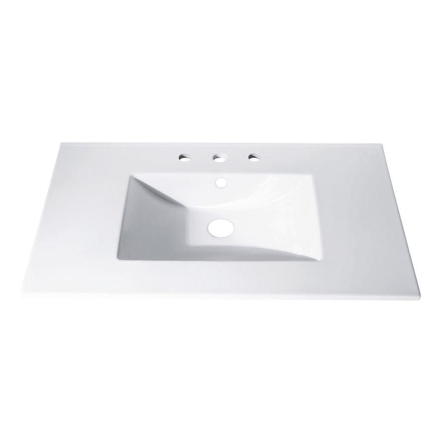 Avanity Loft White Vitreous China Integral Bathroom Vanity Top