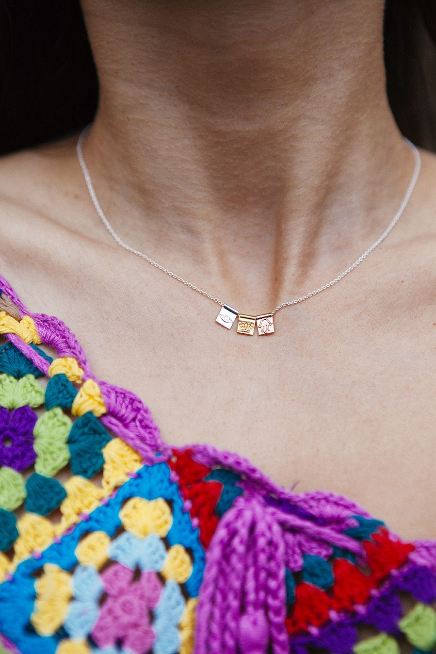 Gorgeous symbol necklace you can wear with anything gold lotus gorgeous symbol necklace you can wear with anything gold lotus silver eye buycottarizona Gallery