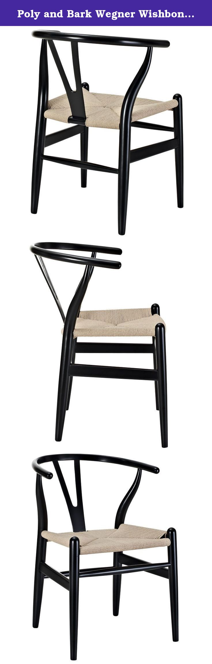 Poly And Bark Wegner Wishbone Style Chair, Black. Designed In 1949 By  Denmarku0027s Foremost