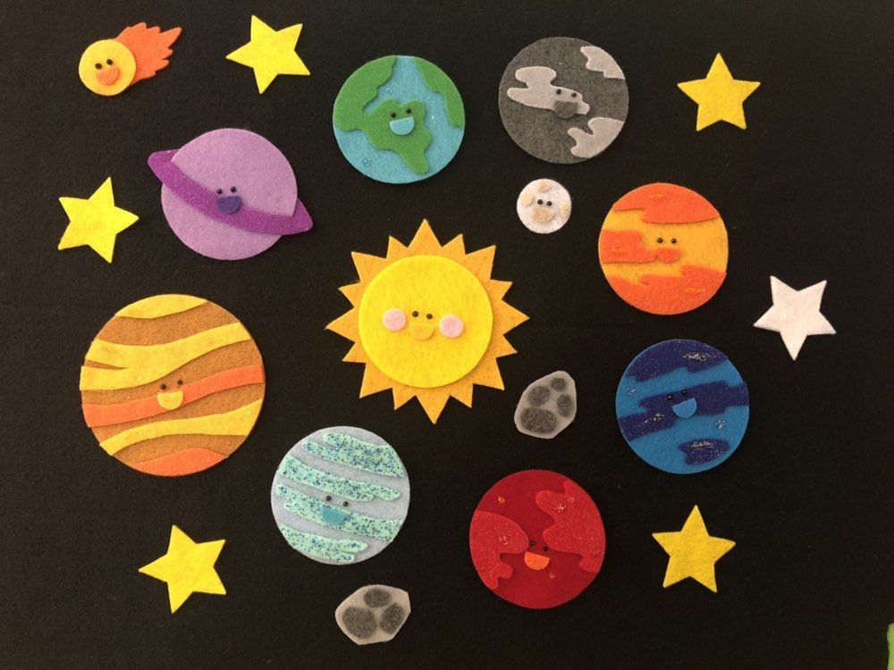 Solar System Planet Roll Call Felt Board Story Rhyme Outer