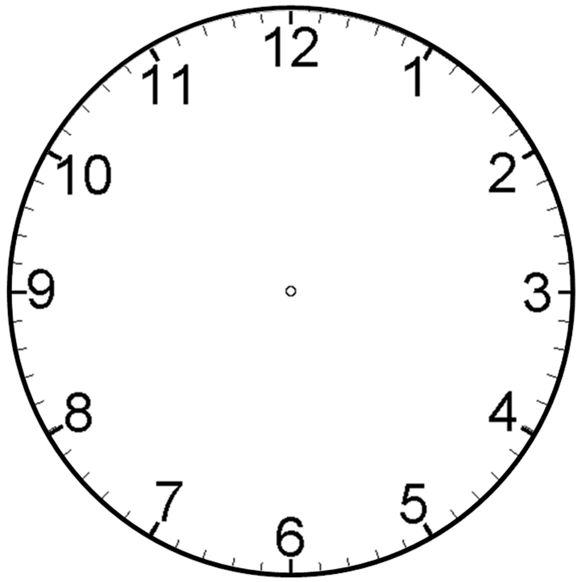 Blank Clock Faces For Exercises Activity Shelter